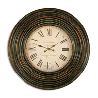 Uttermost Trudy Clock in Distressed Burnished Brown 06726