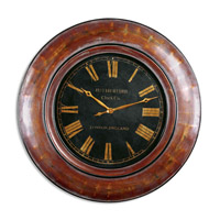 Uttermost Tyrell Clock in Distressed Walnut Brown 06751
