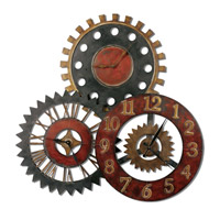Rusty Movements Tones Of Rustic Red Antiqued Gold And Aged Black Clock