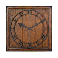 Uttermost Garrison Clock in Heavily Burnished Honey Pecan 06851