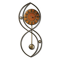 Uttermost Balboa Clock in Black Crackle 06879 photo thumbnail