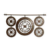 Uttermost 06909 Time Zones 63 X 34 inch Wall Clock thumb