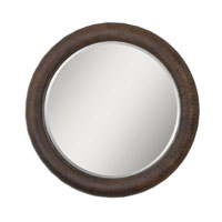 Uttermost 07048 Ringo 36 X 36 inch Distressed Rust Bronze Over A Textured Surface Wall Mirror thumb