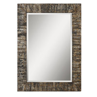 Uttermost 07049 Coaldale 45 X 33 inch Antiqued Silver Champagne Leaf Mirror Home Decor