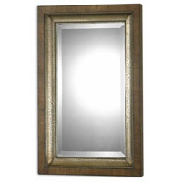 Uttermost 07619 Raton 37 X 23 inch Lightly Stained Hammered Aluminum Wall Mirror thumb