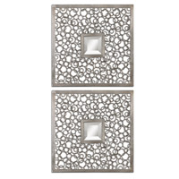 Colusa Squares 20 X 20 inch Lightly Antiqued Silver Mirror Home Decor