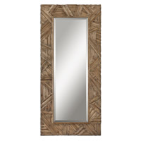 Uttermost Tehama Mirror in Antiqued Light Walnut Stain 07623