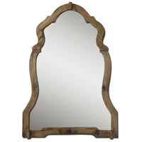 Agustin 43 X 30 inch Light Walnut Stained Wood Wall Mirror