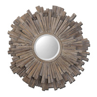 Uttermost 07634 Vermundo 43 X 43 inch Light Walnut Stained Wood Mirror Home Decor