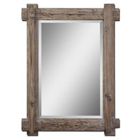 Uttermost 07635 Claudio 39 X 29 inch Light Walnut Stained Wood Mirror Home Decor
