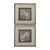 Uttermost Zebra Set of 2 Wall Art 07670