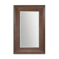 Uttermost Draco Mirror in Leather 07683