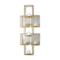Uttermost 07693 Ronana Wall Sconce 19 inch Gold Leaf Wall Sconce Wall Light