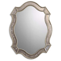 Uttermost Felicie Oval Mirror in Heavily Antiqued Gold Leaf Beaded Edges 08026-B
