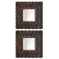 Uttermost 08072 Micah 21 X 21 inch Dark Sable Brown Wall Mirrors thumb