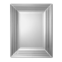Uttermost 08081 Ikona 40 X 32 inch Stair-Stepped Bevel Mirrors Mirror Home Decor