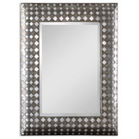 Uttermost 08084 Solvay 41 X 32 inch Heavily Antiqued Silver Frame Wall Mirror thumb