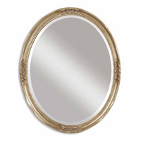Uttermost Newport Oval Silver Mirror in Silver Leaf W/ Gray Glaze - Same 08565-B