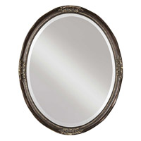 Uttermost Newport Oval Bronze Mirror in Silver Leaf Underlayer 08566-B