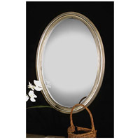 Uttermost Franklin OvalU Silver Mirror in Distressed Silver Leaf 08601-P