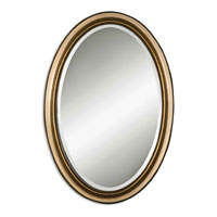 Uttermost 08647-B Petite Manhattan Oval 31 X 21 inch Antique Silver & Gold Wall Mirror thumb