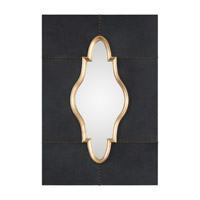 Kamal 46 X 32 inch Black Leather Mirror Home Decor
