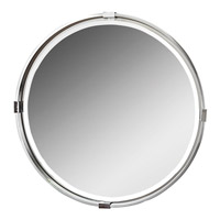 Uttermost Tazlina Mirror in Brushed Nickel 09109