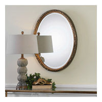 Uttermost 09113 Pellston 30 X 23 inch Golden Bronze Wall Mirror, Oval 09113-A.jpg thumb