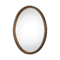 Uttermost 09113 Pellston 30 X 23 inch Golden Bronze Wall Mirror, Oval thumb