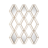 Soren 47 X 39 inch Diamond Gold Mirror Home Decor, Jim Parsons