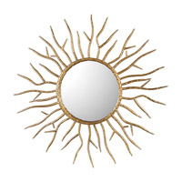 Astor 28 X 28 inch Gold Mirror Home Decor, Starburst, Jim Parsons