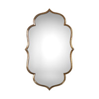 Uttermost 09206 Zina 39 X 24 inch Gold Wall Mirror, Grace Feyock
