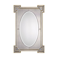 Matilda 42 X 28 inch Antiqued Gold Mirror Home Decor, Grace Feyock
