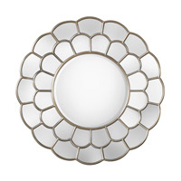 Dahlia 50 X 50 inch Silver Mirror Home Decor, Grace Feyock
