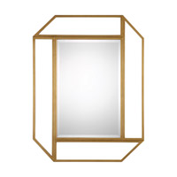 Mendez 54 X 42 inch Antiqued Gold Mirror Home Decor, Grace Feyock