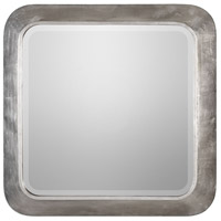 Verea 31 X 31 inch Metallic Silver Leaf Mirror Home Decor