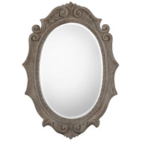 Serafina Oval 43 X 30 inch Weathered Old Wood Mirror Home Decor