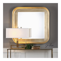 Haemon 40 X 40 inch Glossy Metallic Gold Leaf Mirror Home Decor