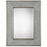 Draven 52 X 40 inch Taupe Gray Wash and Antiqued Silver Leaf Mirror Home Decor