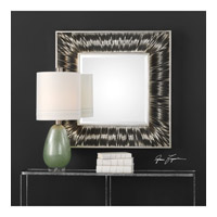 Jacenia 39 X 39 inch Antiqued Metallic Silver Leaf Mirror Home Decor