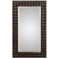 Aperia 75 X 44 inch Burnt Walnut Stain with Silver Leafed Iron Mirror Home Decor