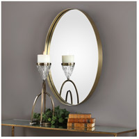 Uttermost 09353 Pursley 30 X 20 inch Plated Brass Wall Mirror 09353-Lifestyle.jpg thumb