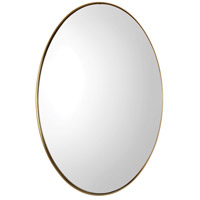 Uttermost 09353 Pursley 30 X 20 inch Plated Brass Wall Mirror thumb