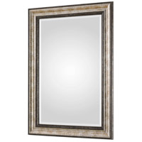 Uttermost 09366 Shefford 43 X 31 inch Antiqued Metallic Silver and Rustic Dark Bronze Wall Mirror alternative photo thumbnail