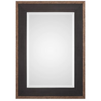 Staveley 42 X 30 inch Rustic Black Mirror