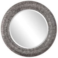 Macarea 36 X 36 inch Soft Gray Wash with Silver Highlights Wall Mirror