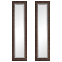 Ailani 48 X 12 inch Burnished Brown with Light Gray Glaze Wall Mirrors, Set of 2