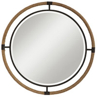 Uttermost 09475 Melville 36 X 36 inch Textured Rust Black and Natural Rope Wall Mirror photo thumbnail