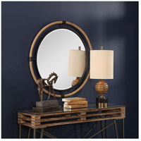 Uttermost 09475 Melville 36 X 36 inch Textured Rust Black and Natural Rope Wall Mirror alternative photo thumbnail