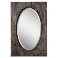 Hitchcock 36 X 24 inch Heavily Distressed Antiqued Natural Wood Tone Mirror Home Decor